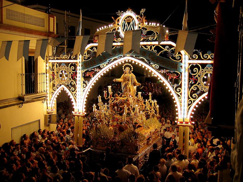 Las procesiones del 15 de agosto en la provincia de Sevilla