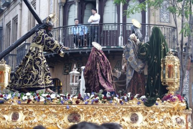 Misterio del encuentro de Jesús con las mujeres, Hermandad del Valle. / Enrique Ayilón.