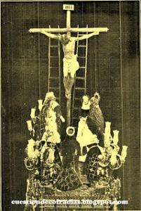 Paso de Misterio del Cristo de la Buena Muerte, año 1.886 | Foto extraída de Cuestión de Cofradías
