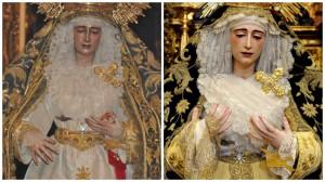 La Virgen de Loreto antes y después de su restauración | Foto: Hermandad San Isidoro