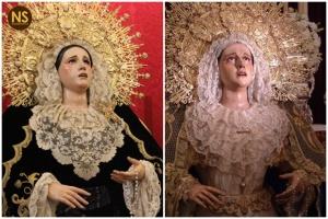 Concepción de La Trinidad antes y después de la restauración