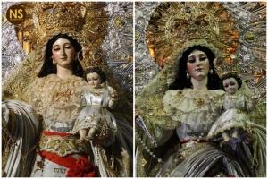 Nieves de Sta. María la Blanca antes y después de la restaración