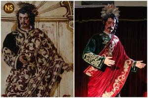 San Juan Evangelista del Gran Poder antes después de la restaurción
