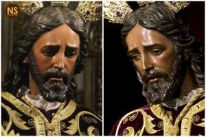 Soberano Poder en su Prendimiento (Panaderos) antes y después de la restauración