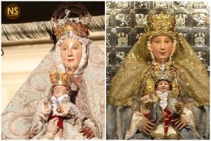Virgen de los Reyes antes y después de la restauración