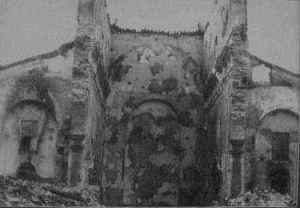 San Roque tras el incendio de 1936