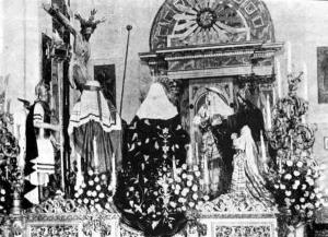 Misterio del Buen Fin representando la Quinta Angustia con el centurión