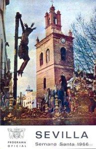 Portada del progrma de mano e la Semana Santa de 1966