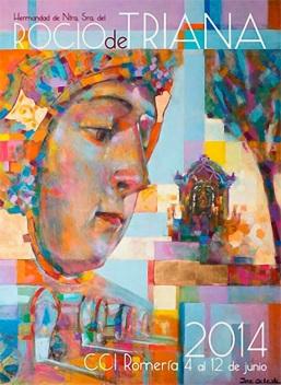 Cartel del Rocío de Triana, año 2014, obra de José Cerezal.