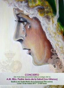Cartel del concierto de los Gitanos en la Macarena
