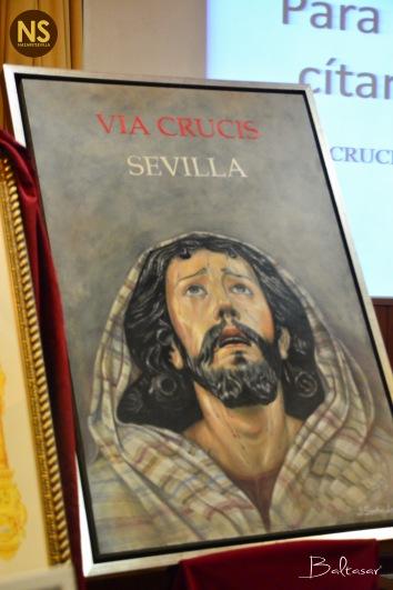 Cartel del Viacrucis de Sevilla, obra de Jonathan Sánchez Aguilera.