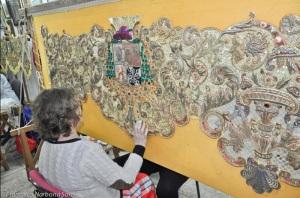 Restauración del palio de la Macarena. Enero 2017 | Hermandad