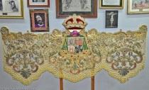 En la imagen, bambalina delantera del palio de la Macarena, obra que ha lucido restaurada por el taller de Sucesores de Elena Caro esta Semana Santa.