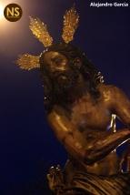 Jesús atado a la Columna de las Cigarreras. Viacrucis 2017 | Alejandro García