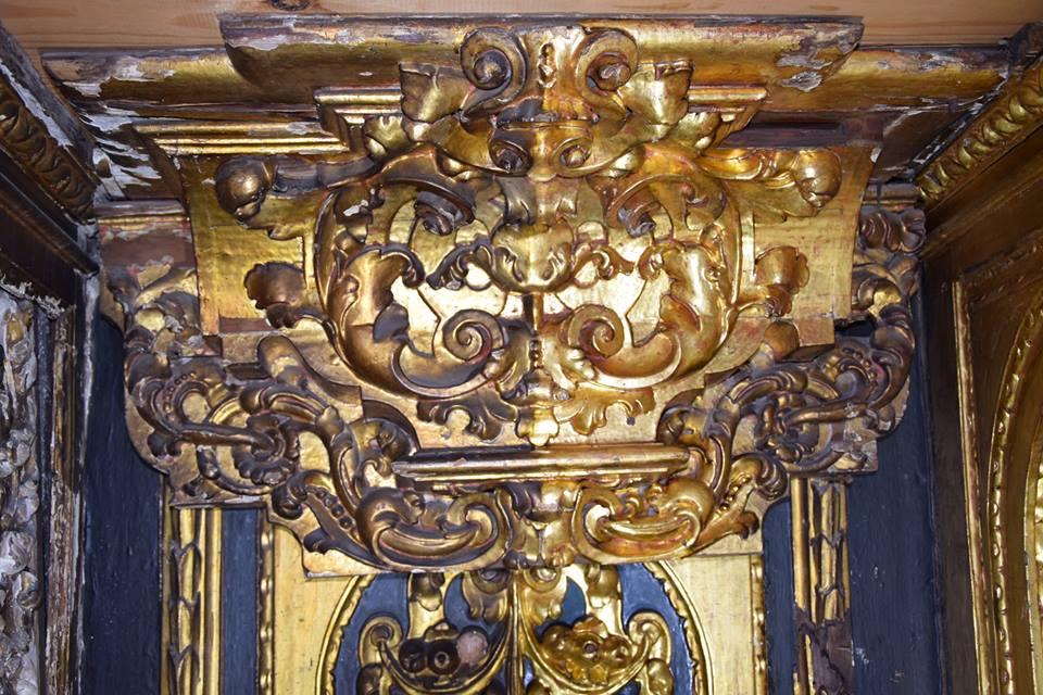Avanzan a buen ritmo los trabajos en el retablo de la capilla del Calvario