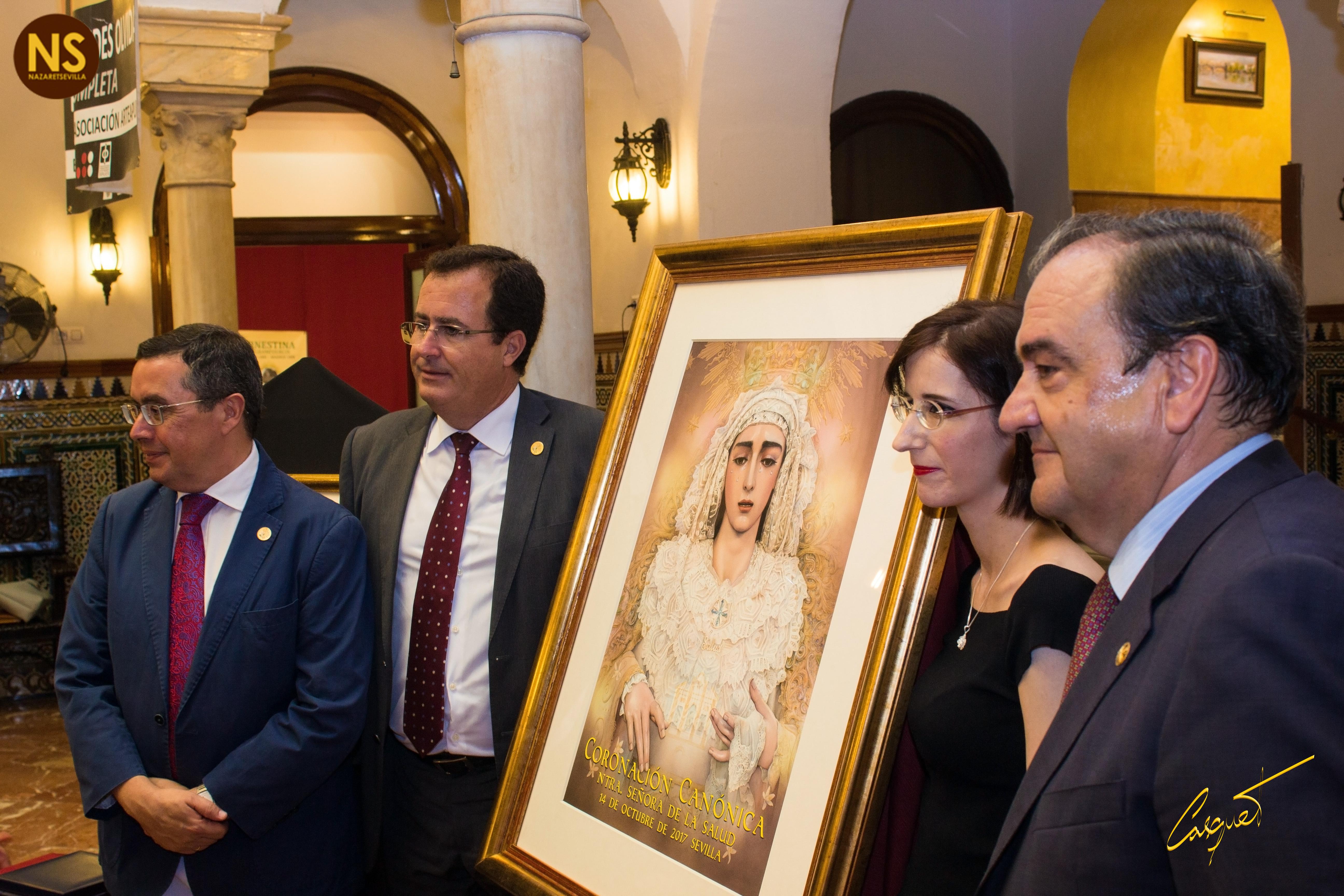 El cartel de la coronación de la virgen de la Salud de San Gonzalo, al detalle