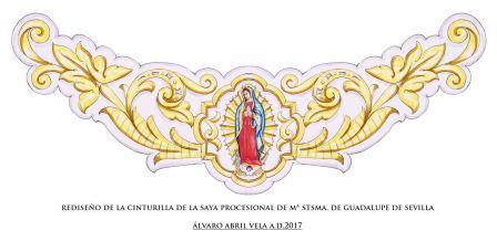 Restauración saya virgen de Guadalupe   Las Aguas