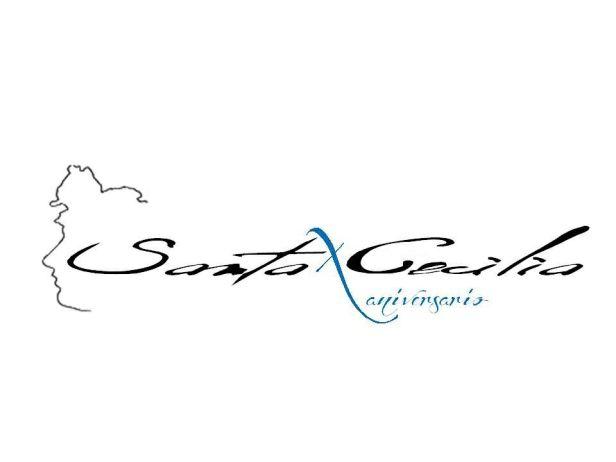 Logo décimo aniversario Santa Cecilia